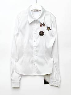 Біла блуза для дівчинки, розміри 9, 15 років