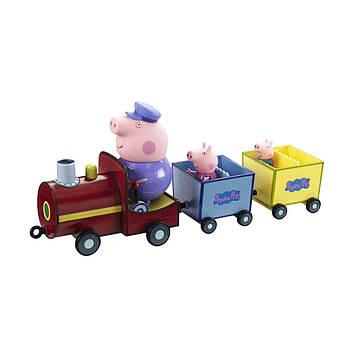 """Ігровий набір """"Peppa.Паравозик дідуся Пеппі"""" паровозик,фігурки 3шт №20829/КіддіСвіт/"""