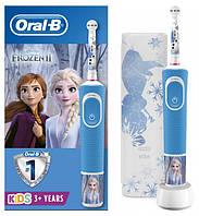 """Дитяча електрична зубна щітка + футляр Oral-B Kids """"Крижане Серце 2"""" 3+"""