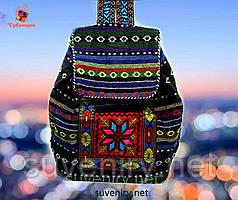 Красивий яскравий рюкзак в карпатському стилі