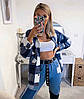 """Женская теплая рубашка в клетку """"Elba"""", фото 6"""