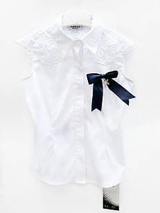 Біла блуза для дівчинки, розміри 5/6, 7/8, 11/12 років