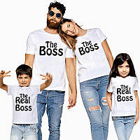 Футболки Фэмили Лук Family для всей семьи. Boss and real boss Push IT