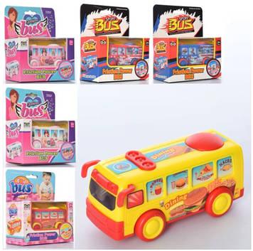 Автобус інер-ий 12см,у кор-ці,14х16,5х7см №555-2-3-4(96)