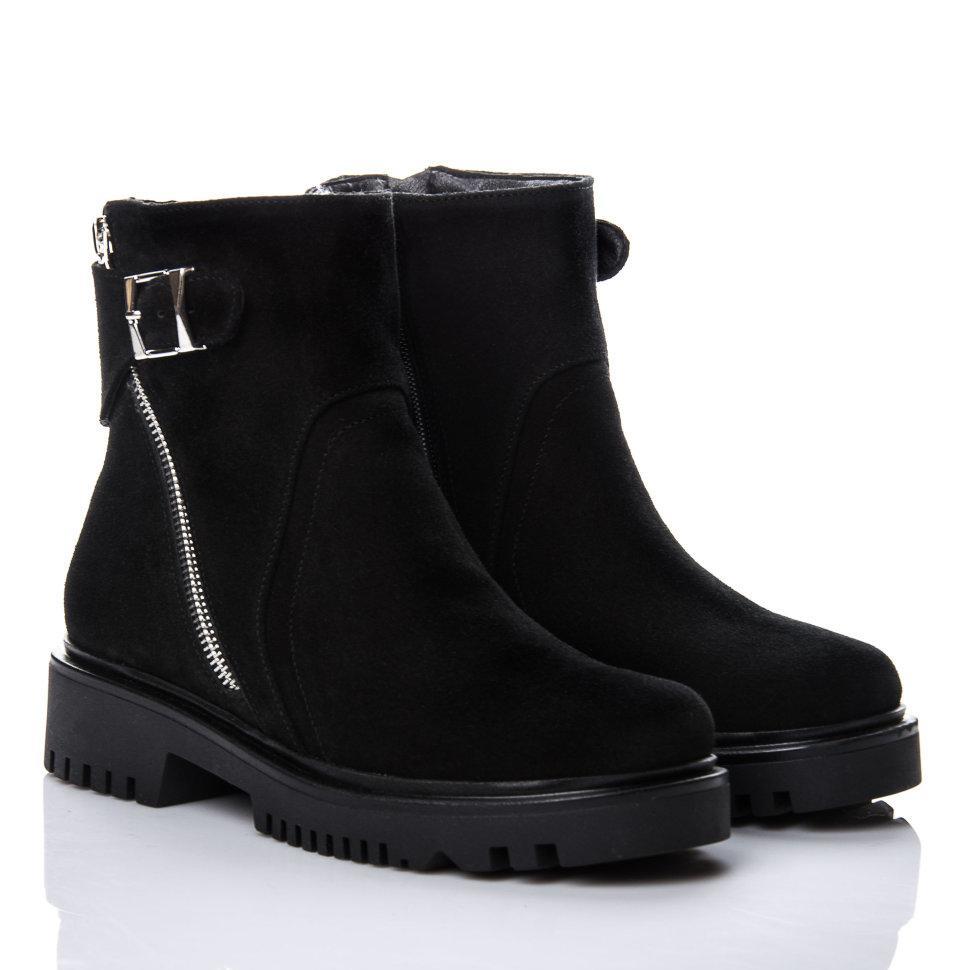Ботинки La Rose 2148 36(23,4см) Черная замша ЗИМНИЕ