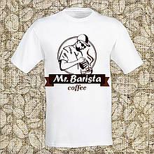 """Мужская футболка с принтом """"Mr. Barisra"""" Push IT Белый"""