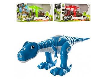 Динозавр 41см,на бат-ці,муз.,світ.,звук,танцює,в кор-ці,3 кольор. №28301(12)