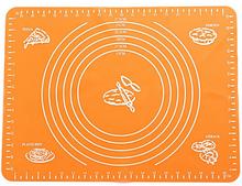 Коврик силиконовый для раскатки теста кухонный Оранжевый 30х40 см