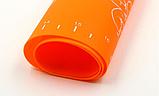 Коврик силиконовый для раскатки теста кухонный Оранжевый 30х40 см, фото 2