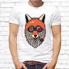 Мужская футболка с принтом Курящий Лис Push IT