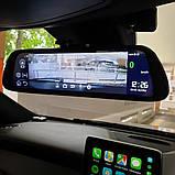 "Зеркало с видеорегистратором DVR MR-810 ANDROID Экран 10"" 4G WiFi GPS две камеры, фото 3"