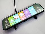 "Зеркало с видеорегистратором DVR MR-810 ANDROID Экран 10"" 4G WiFi GPS две камеры, фото 6"
