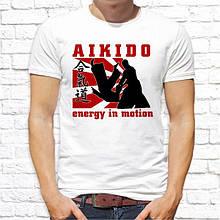 """Мужская футболка с принтом """"Aikido energu in motion"""" Push IT"""