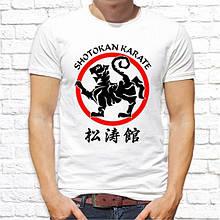 """Мужская футболка с принтом """"Shotokan karate"""" Push IT"""