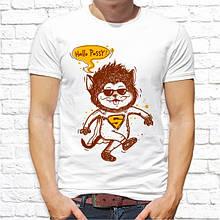 """Мужская футболка с принтом Волк-супергерой """"Hallo Pussy!"""" Push IT"""