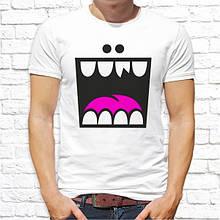 Мужская футболка с принтом Смайл Белый Push IT