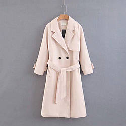Пальто женское длинное с поясом Elegant Berni Fashion (One Size)