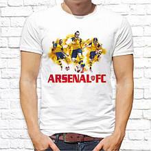 """Мужская футболка с принтом футбольного клуба  """"Arsenal"""" Белый Push IT"""