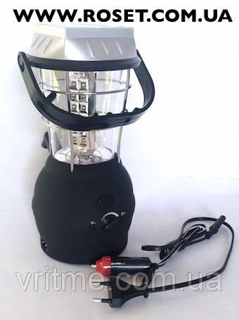 Кемпинговый фонарь на солнечной батарее Super Bright LED LaiTuo LT-768R с радиоприемником
