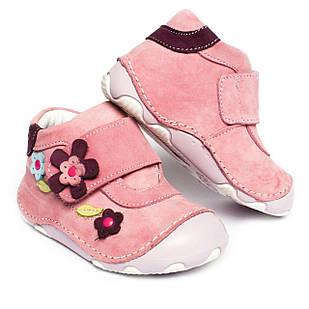 Кожаные ботиночки-пинетки для девочки, размеры 21, 22