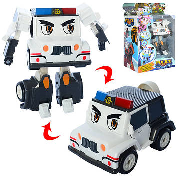 Трансформер 14см,поліція,робот+машинка,у кор-ці,22х28х12,5см №JT3104(24)