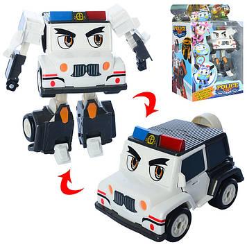 Трансформер 14см,поліція,робот+машинка,в кор-ці,22х28х12,5см №JT3104(24)