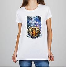 """Женская футболка с принтом Тигр """"Born to Wander"""" Push IT"""