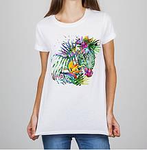 Женская футболка с принтом Зебра Push IT