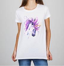 Женская футболка с принтом Лошадь Push IT