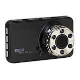 """Видеорегистратор T638 WDR Full HD с ночной сьёмкой, 1 камера 3"""" экран, фото 3"""