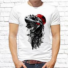 Мужская футболка с принтом Скелет Динозавра Push IT