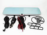 """Зеркало с видео регистратором с ТРЕМЯ камерами DVR CSZ-C33 сенсорный экран 5"""", фото 3"""