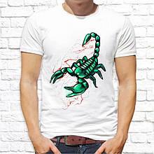 Мужская футболка с принтом Скорпион зеленый Push IT