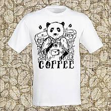 """Мужская футболка с принтом """"Coffee"""" Push IT Белый"""