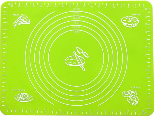 Коврик силиконовый для раскатки теста кухонный Салатовый 30х40 см