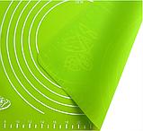 Коврик силиконовый для раскатки теста кухонный Салатовый 30х40 см, фото 2