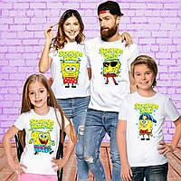 """Футболки Фэмили Лук Family Look для всей семьи """"Sponge"""" Push IT"""