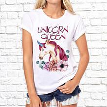 """Женская футболка с принтом """"Unicorn queen"""" Push IT"""