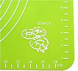 Коврик силиконовый для раскатки теста кухонный Салатовый 30х40 см, фото 5