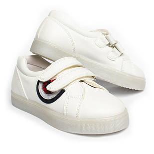 Светящиеся кроссовки для девочки, размеры 26, 27, 28, 29, 30