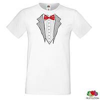 """Парные футболки для молодоженов с принтом """"Жених и Невеста"""" L, Белый Push IT"""