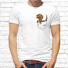 Мужская футболка с принтом Динозавр в кармане Push IT
