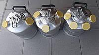 Бачок,кег,емкость промывочная металл на 4 фитинга (без фитинга),промывочный бачок 10 литров