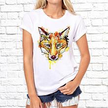 Женская футболка с принтом Лисичца Push IT