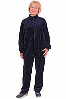 Женский велюровый спортивный костюм (размеры 3XL-5XL)