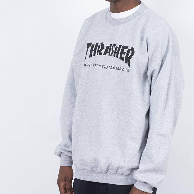 Thrasher свитшот мужской   Бирки Живые фотки   Трешер кофта