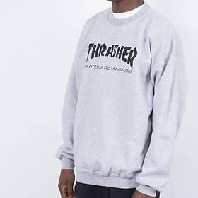 Thrasher свитшот мужской | Бирки Живые фотки | Трешер кофта