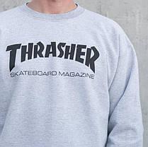 Thrasher свитшот мужской   Бирки Живые фотки   Трешер кофта, фото 3