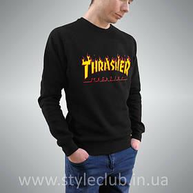 Thrasher Magazine свитшот • Бирка Трешер • Черная мужская кофта