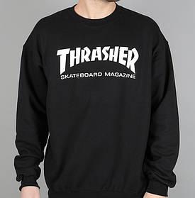 Thrasher свитшот • Реальные фото Бирки • Трешер черная толстовка